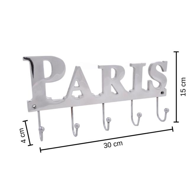 Kapstok Zilver Paris 15x30 cm