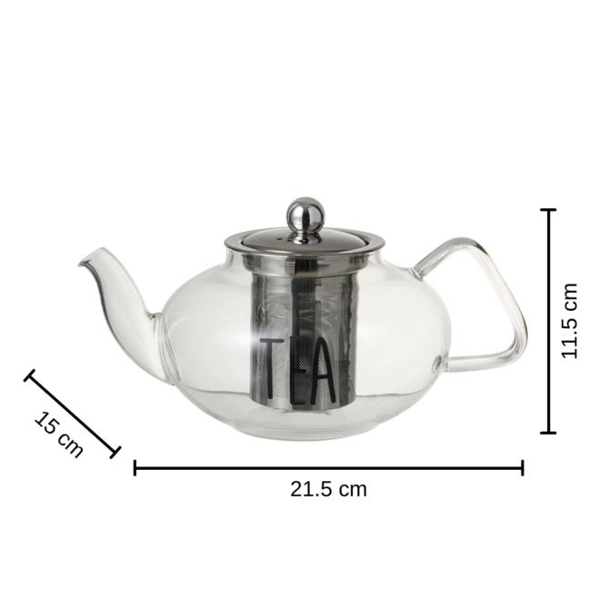 Theepot Glas Met Filter 0.8 L