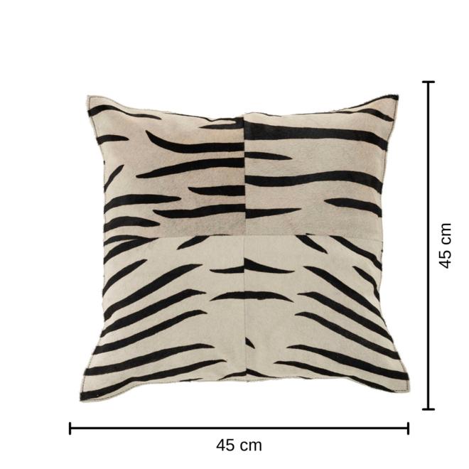 Sierkussen Zebra Print/Huid 45x45 - incl. vulling