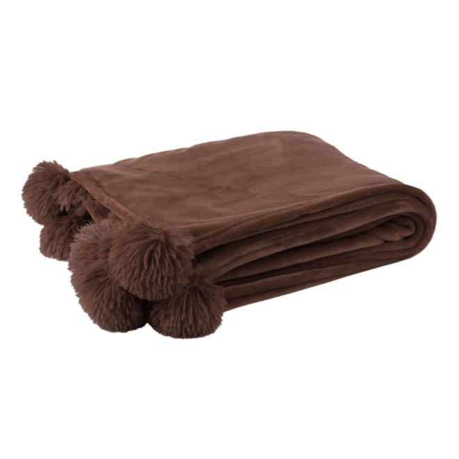 Pluche Plaid Bruin 170 x 130 cm