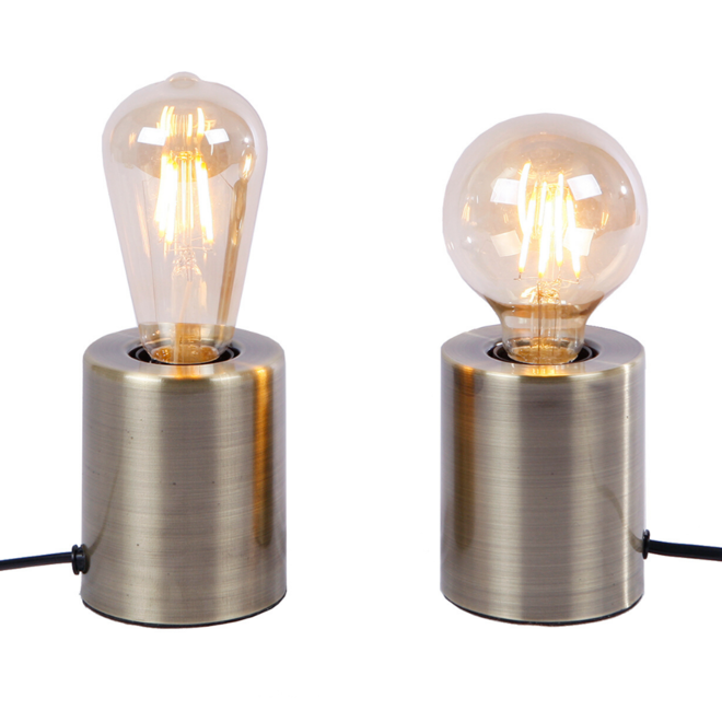 Tafellamp Fitting Zilver Metaal