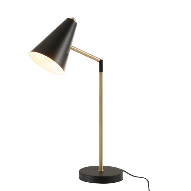 Bureaulamp Modern Zwart Goud Metaal - Touch Aan/uit