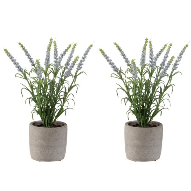 Kunstplant Lavendel In Pot 2 st. 28 cm