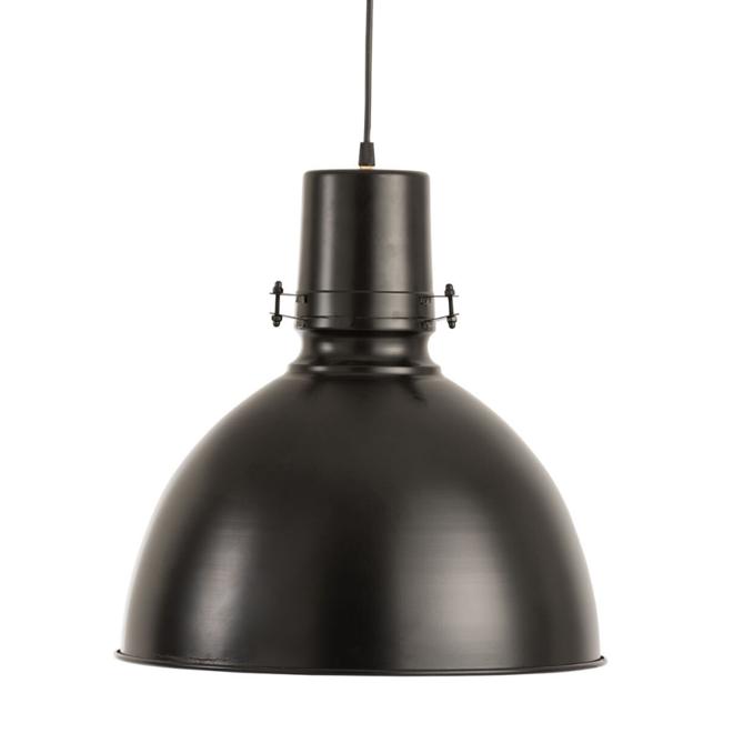 Industriele Hanglamp Zwart Metaal