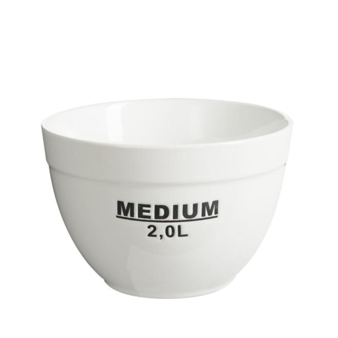 Saladeschaal Groot Wit/Zwart Porselein Ø 21 cm - 2 L