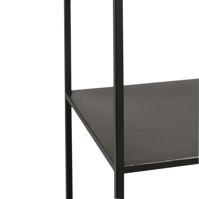 Open Kast Metaal Zwart Vierkant