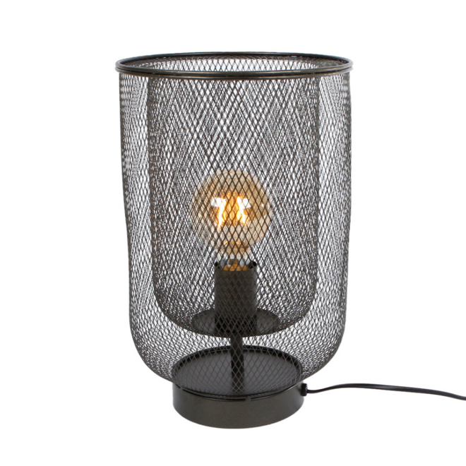 Tafellamp Modern Zwart Metaal