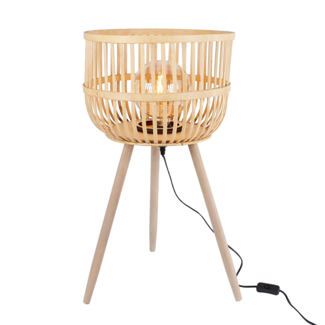 Bamboe Tafellamp Driepoot