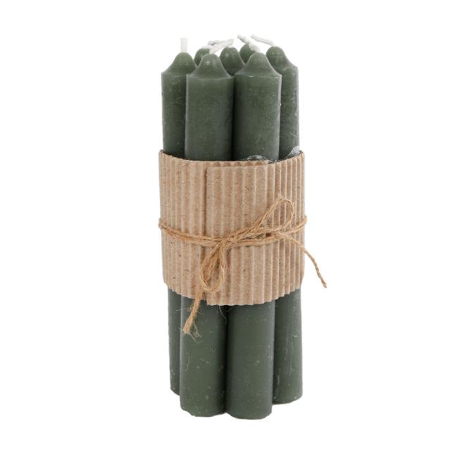 Tafelkaars/Dinerkaars Geurloos Groen 17 cm - 7 st.