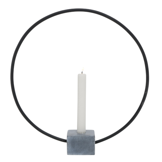 Kandelaar Beton Cirkel Modern 38 cm
