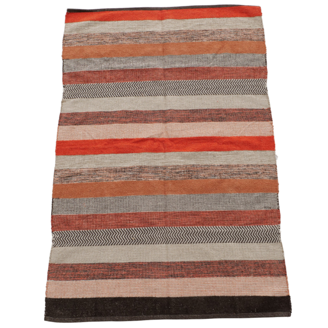 Vloerkleed/Carpet Gestreept Modern Bruin/Rood 180 x 120 cm