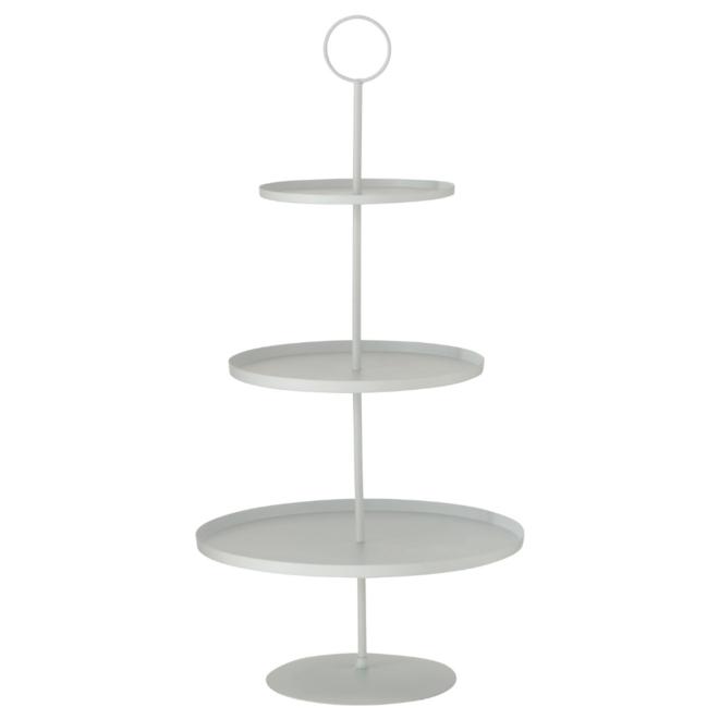 Etagere Modern Wit Metaal 3 Laags 44.5 cm