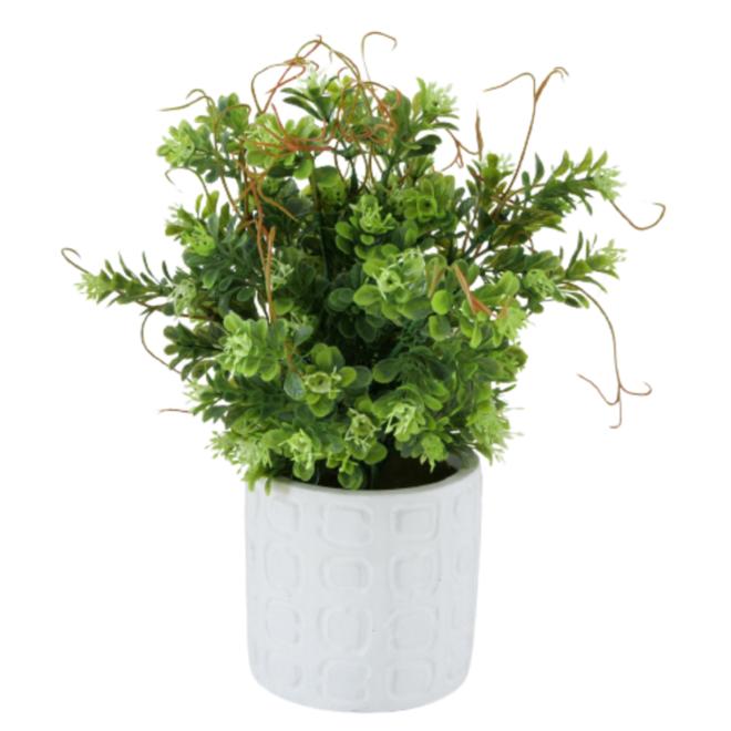 Kunst Vetplanten In Pot Beton 3 st. - 29 cm