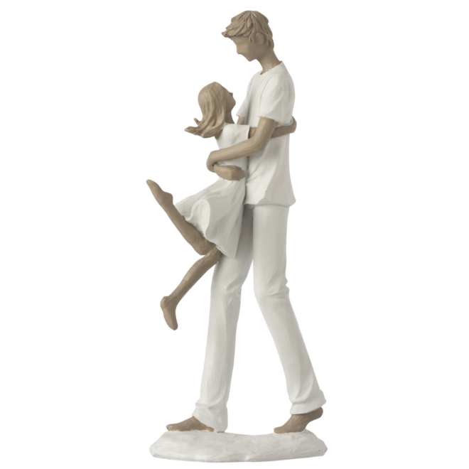 Beeld Vader En Dochter 34 cm