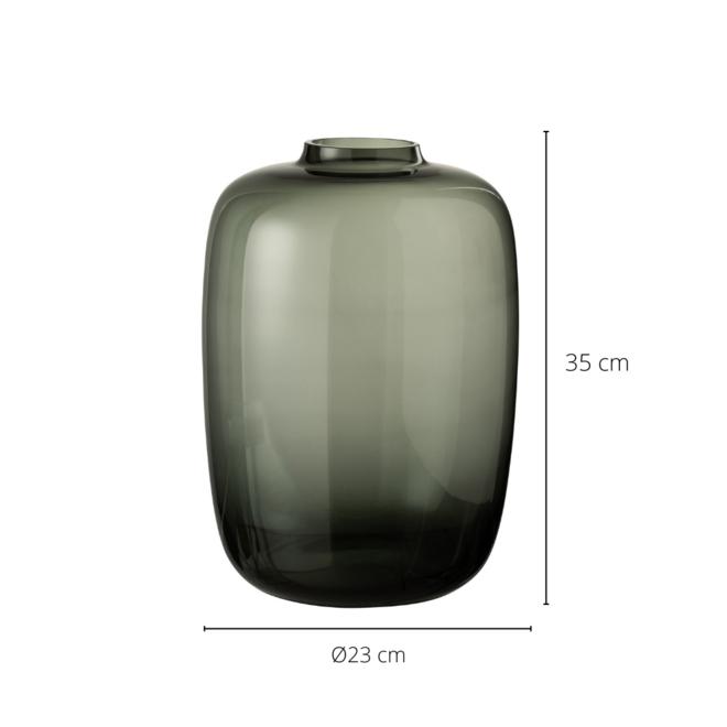 Vaas Gerookt Glas Grijs 35 cm