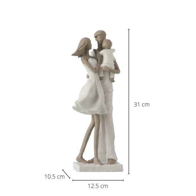 Beeld Gezin Koppel En Kind 31 cm