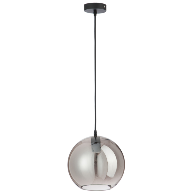 Hanglamp Modern Rond Spiegelglas Zilver Eettafel