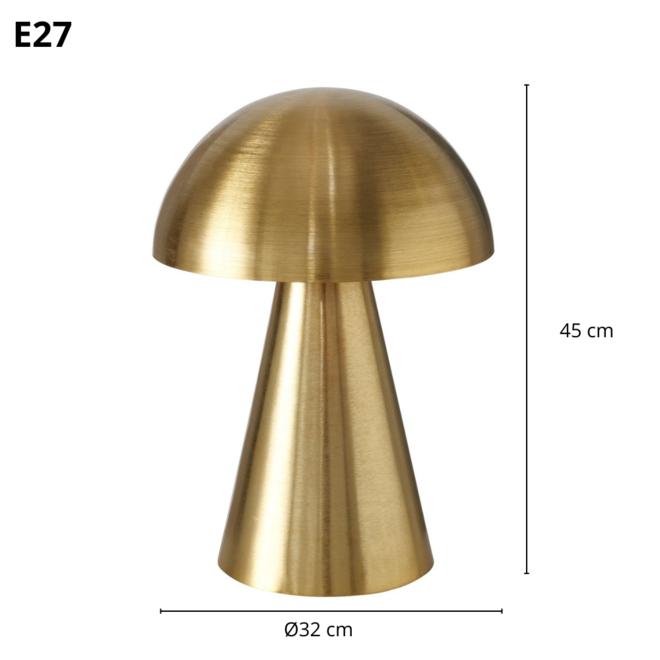 Paddenstoel Tafellamp Goud Modern 45 cm