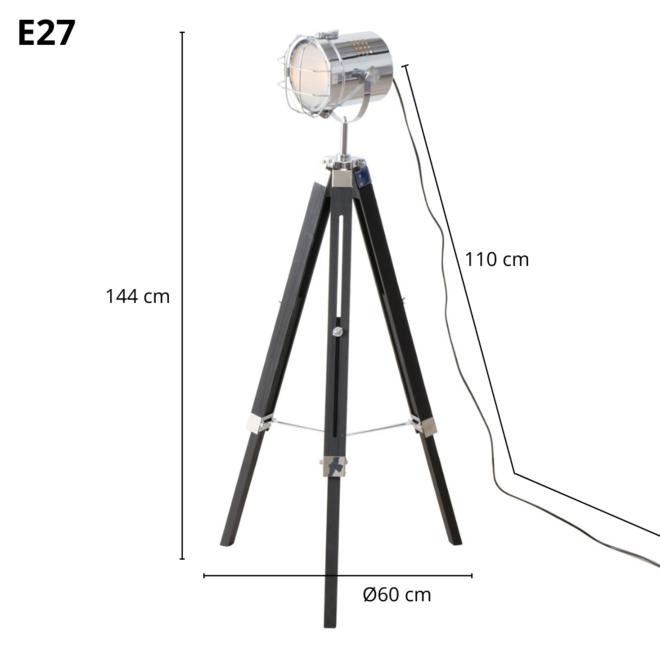 Vloerlamp Driepoot Statief Spotlamp