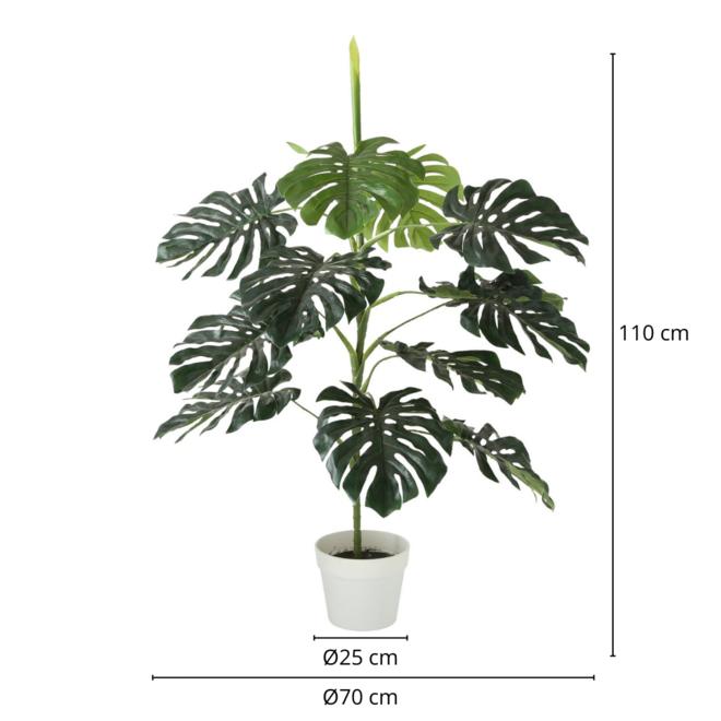 Kunstplant Monstera In Pot 110 cm