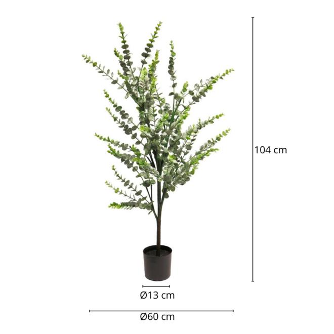 Kunstplant Eucalyptus Plant In Pot 104 cm