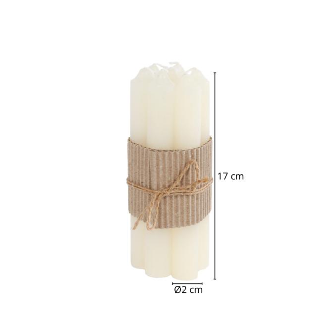 Tafelkaars/Dinerkaars Geurloos Wit 17 cm - 7 st.