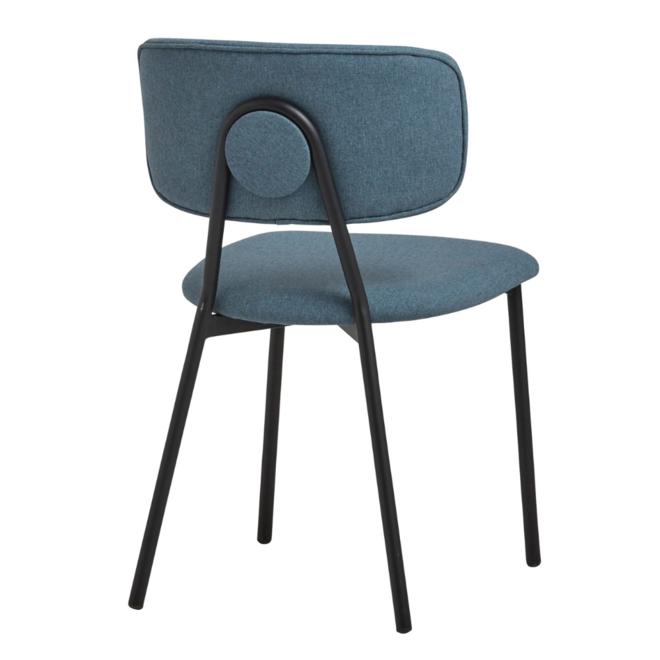 Eetkamerstoel Blauw Modern/Scandinavisch Stof