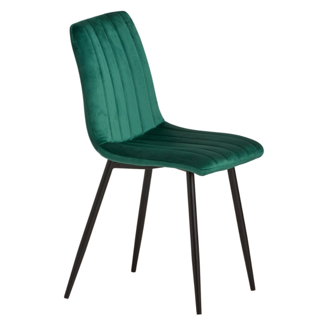 Eetkamerstoel Velvet/Velours Stof Groen Modern