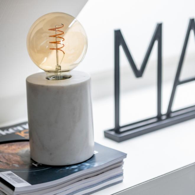 Tafellamp Fitting/Voet Marmer Wit 13 cm