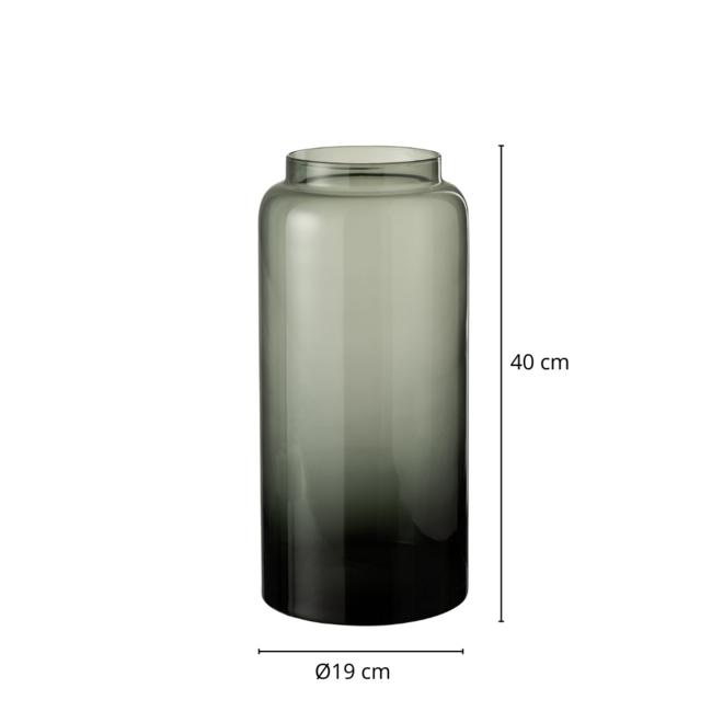 Vaas Gerookt Glas Grijs 40 cm