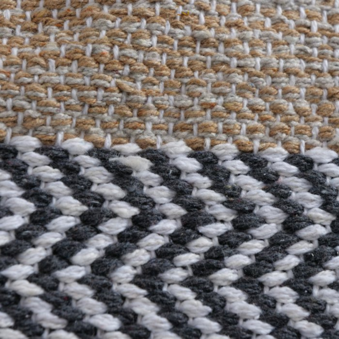 Vloerkleed/Carpet Gestreept Modern Bruin/Beige 180 x 120 cm