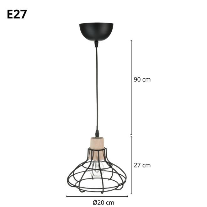 Kleine Hanglamp Zwart Industrieel B