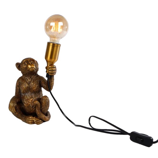 Tafellamp Aap Goud 28 cm