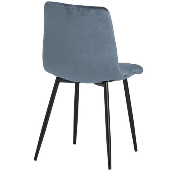 Eetkamerstoel Velvet/Velours Stof Blauw Modern