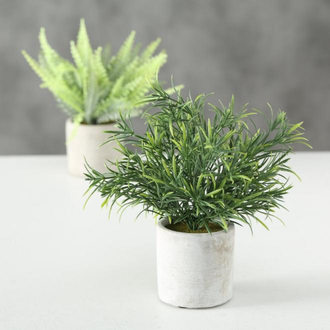 Kunstplant In Pot 2 st. - 23 cm
