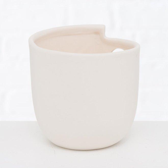 Waxinelichthouder Wit Gezicht Scandinavisch 2 st. - 9 cm
