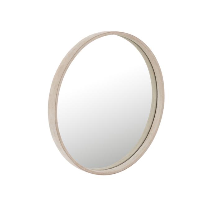 Ronde Spiegel Leer Beige Ø 40.5 cm