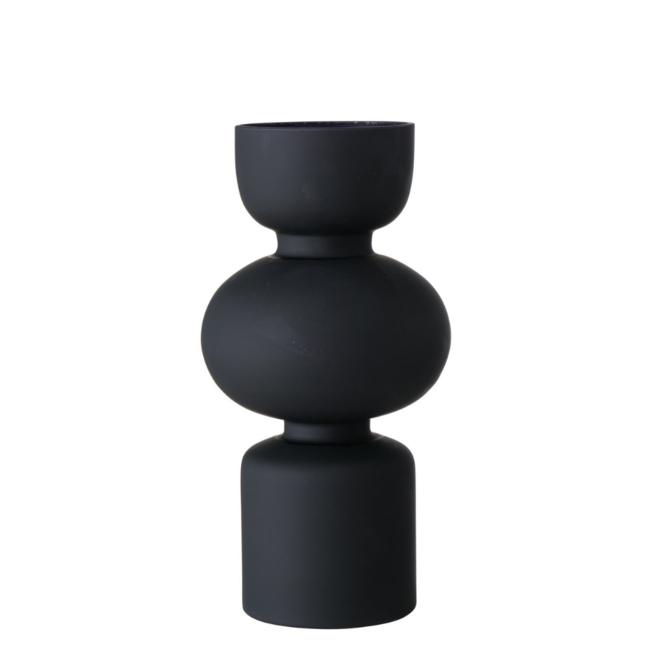 Vaas Modern Design Zwart Glas 29 cm