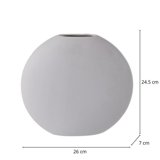 Vaas Rond Plat Grijs/Lila 24.5 cm