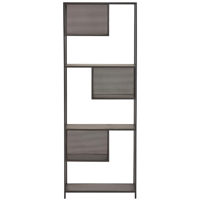 Wandkast/Rek Zwart Metaal 188 cm