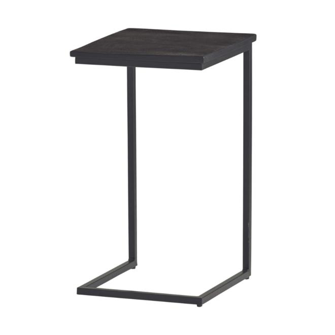 Laptoptafel/Bank Bijzettafel Hout/Metaal Zwart 40x40 cm