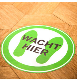 Sticker: wacht hier