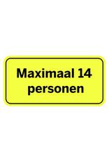 Sticker: maximaal aantal personen