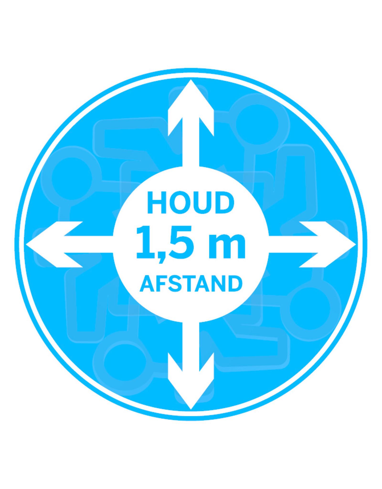 Sticker: houd 1,5 m afstand