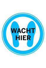 Sticker: wacht hier