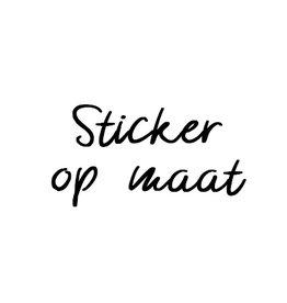 Sticker op maat