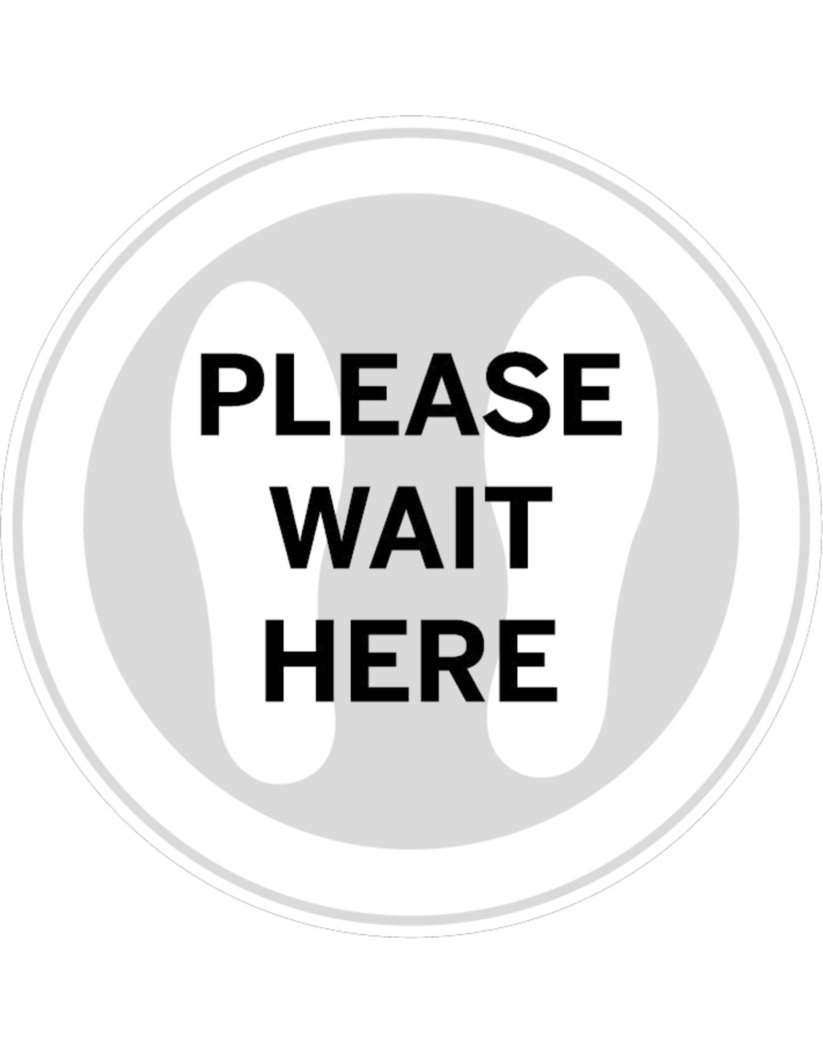 Sticker: please wait here