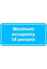 Sticker: maximum occupancy persons