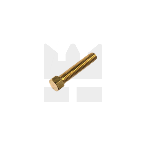 KING Microschroeven Modelbouw bout M0,6 x 6 - Hoge kop - Messing - 10 stuks