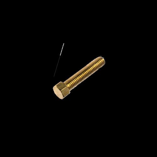 KING Microschroeven Modelbouw bout M0,8 x 4 - Hoge kop - Messing - 10 stuks